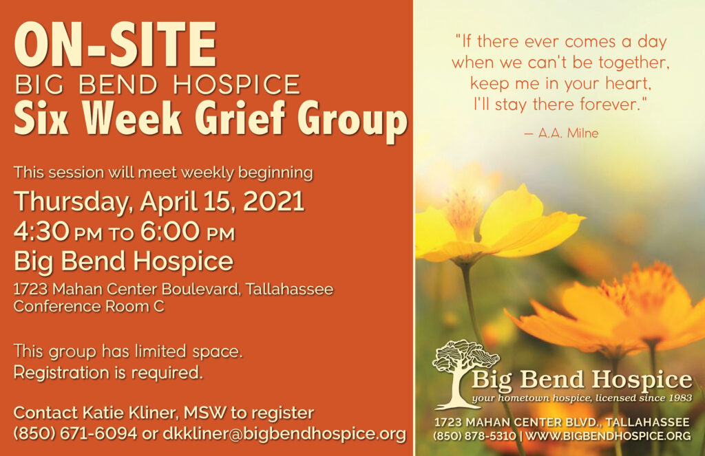 April/May 2021 6-Week Grief Group